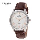 [TANDY] 탠디 다이아몬드 가죽남성시계 T-1663M WR