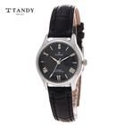[TANDY] 탠디 다이아몬드 가죽여성시계 T-1663F BK
