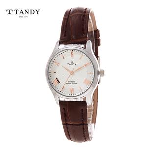 [TANDY] 탠디 다이아몬드 가죽여성시계 T-1663F WR